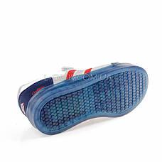 Кроссовки со светящейся подошвой, на батарейках сине-серые 2102-17, фото 3