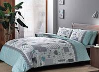 Полуторное постельное белье TAC Elora Mint Ранфорс