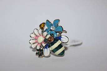 Кольцо Цветы и Пчелка