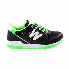 Кроссовки черно-зеленые 228-102, фото 2