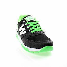 Кроссовки черно-зеленые 228-102, фото 3