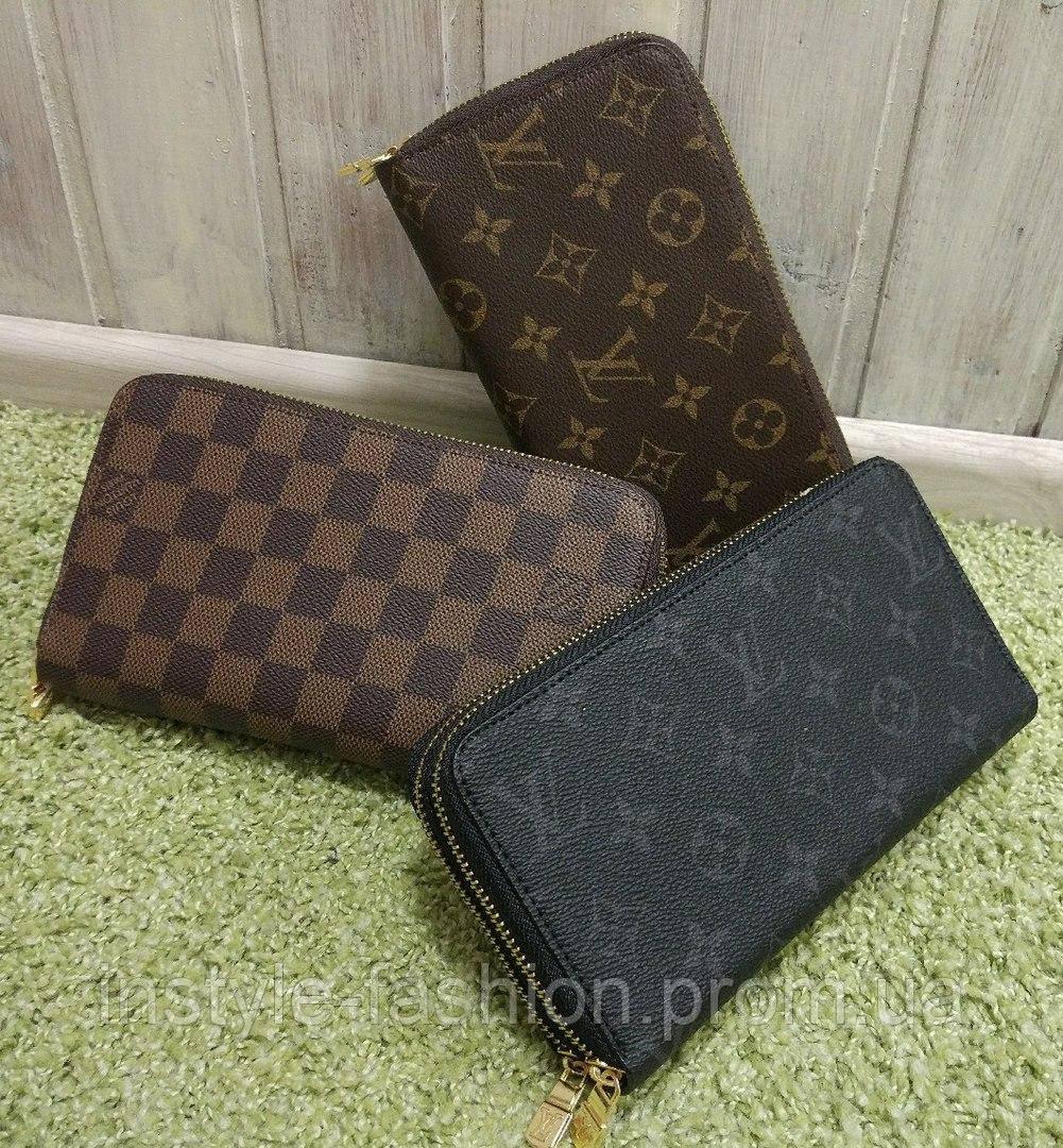 022cf4802afb ... Кошелек женский брендовый Louis Vuitton Луи Виттон на две змейки черный,  фото 3