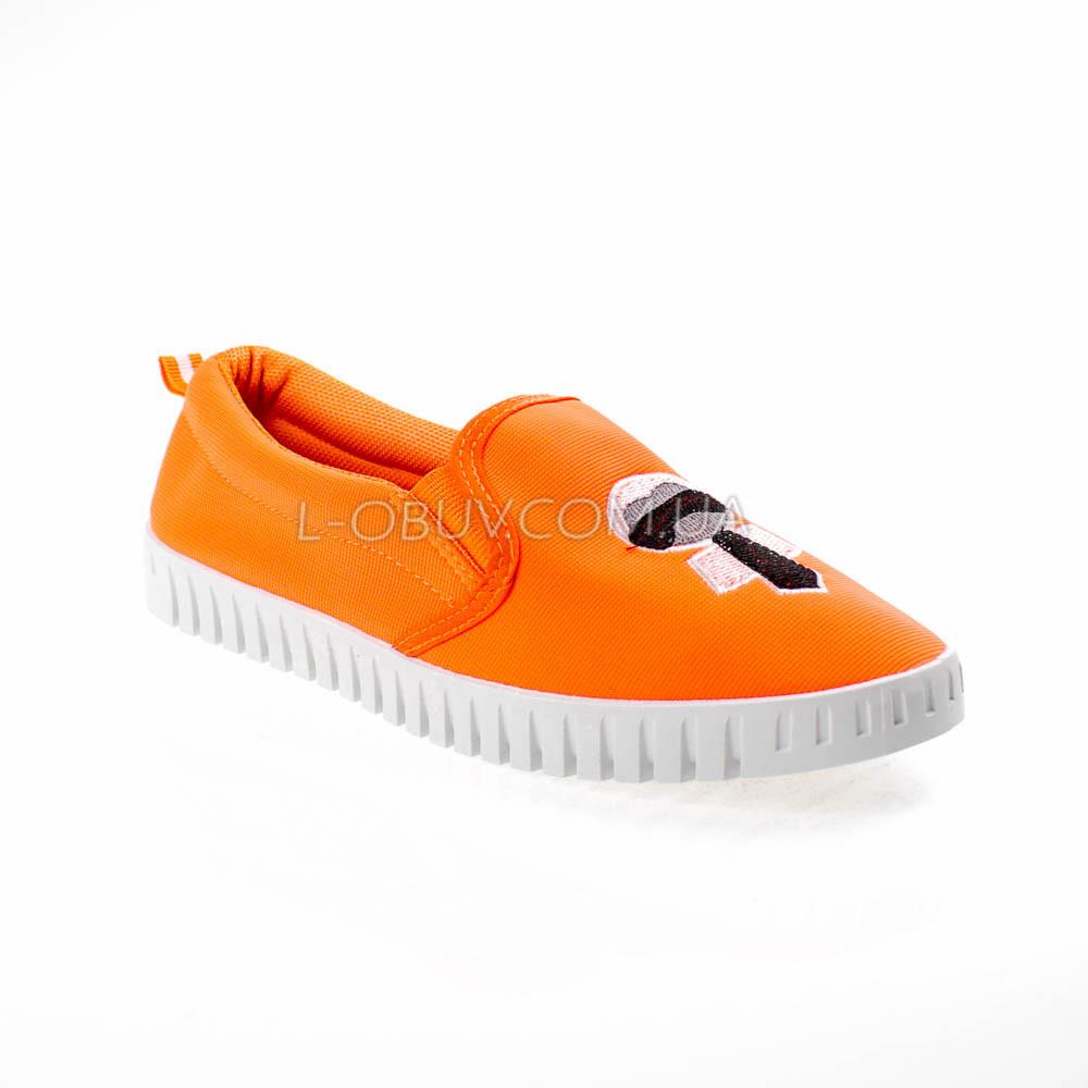 Мокасини помаранчеві легкі зручні 2212-19