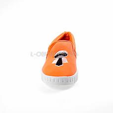 Мокасини помаранчеві легкі зручні 2212-19, фото 3