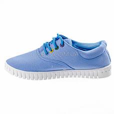 Мокасины-кеды голубые на шнурках 2211-6, фото 3