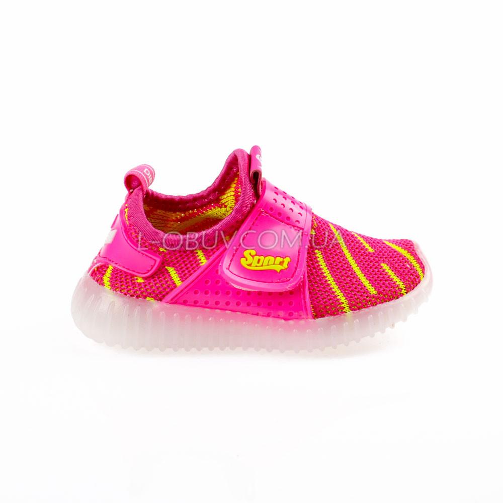 Светящиеся кроссовки, мигающая подошва, красные 1203-7
