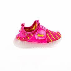 Светящиеся кроссовки, мигающая подошва, красные 1203-7, фото 3