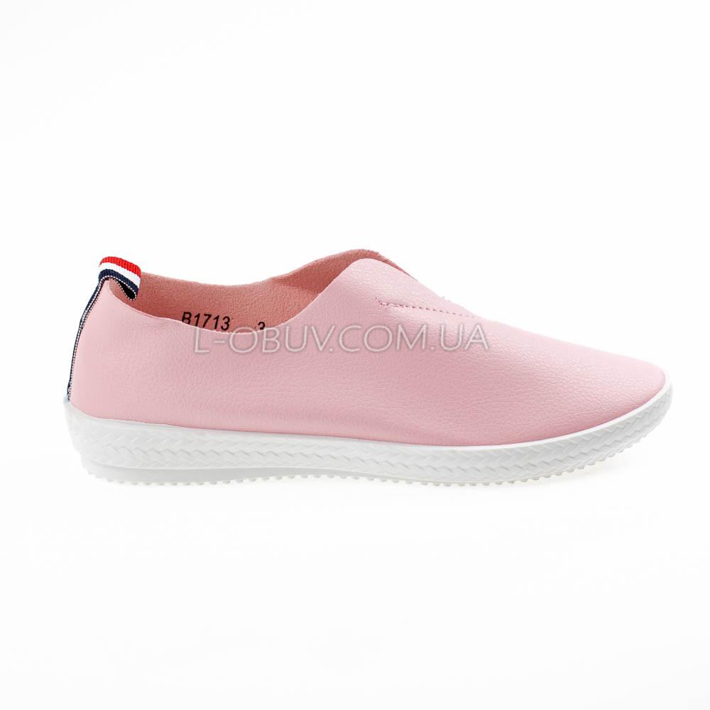 Мокасины-тапочки женские розовые 2208-3