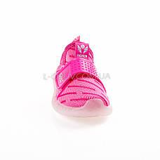 Светящиеся кроссовки, мигающая подошва, розовые 1202-3, фото 2