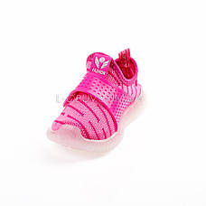 Светящиеся кроссовки, мигающая подошва, розовые 1202-3, фото 3