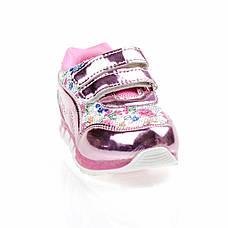 Світяться кросівки, миготлива підошва, рожеві 1501-3, фото 3