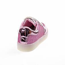Светящиеся кроссовки, мигающая подошва, розовые 701-3, фото 2