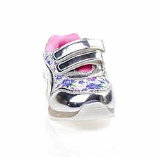 Светящиеся кроссовки, мигающая подошва, серебро 1501-5, фото 2