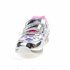 Светящиеся кроссовки, мигающая подошва, серебро 1501-5, фото 3
