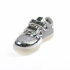 Светящиеся кроссовки, мигающая подошва, серые 701-5, фото 3