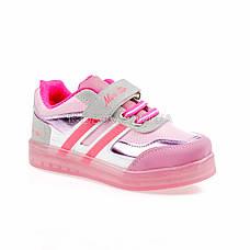 Светящиеся кроссовки, на батарейках, мигающая подошва, розовые 1801-5, фото 3