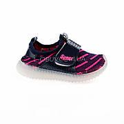 Светящиеся кроссовки, мигающая подошва, черно-красные 1201-2