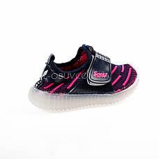 Светящиеся кроссовки, мигающая подошва, черно-красные 1201-2, фото 3