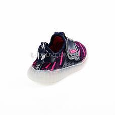 Светящиеся кроссовки, мигающая подошва, черно-красные 1201-2, фото 2
