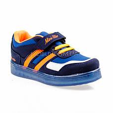 Светящиеся кроссовки, на батарейках, мигающая подошва, синие 1801-1, фото 3