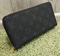 Кошелек женский брендовый Louis Vuitton Луи Виттон на две змейки черный, фото 1