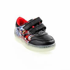 Светящиеся кроссовки, мигающая подошва, черные, капитан америка 903-2, фото 3