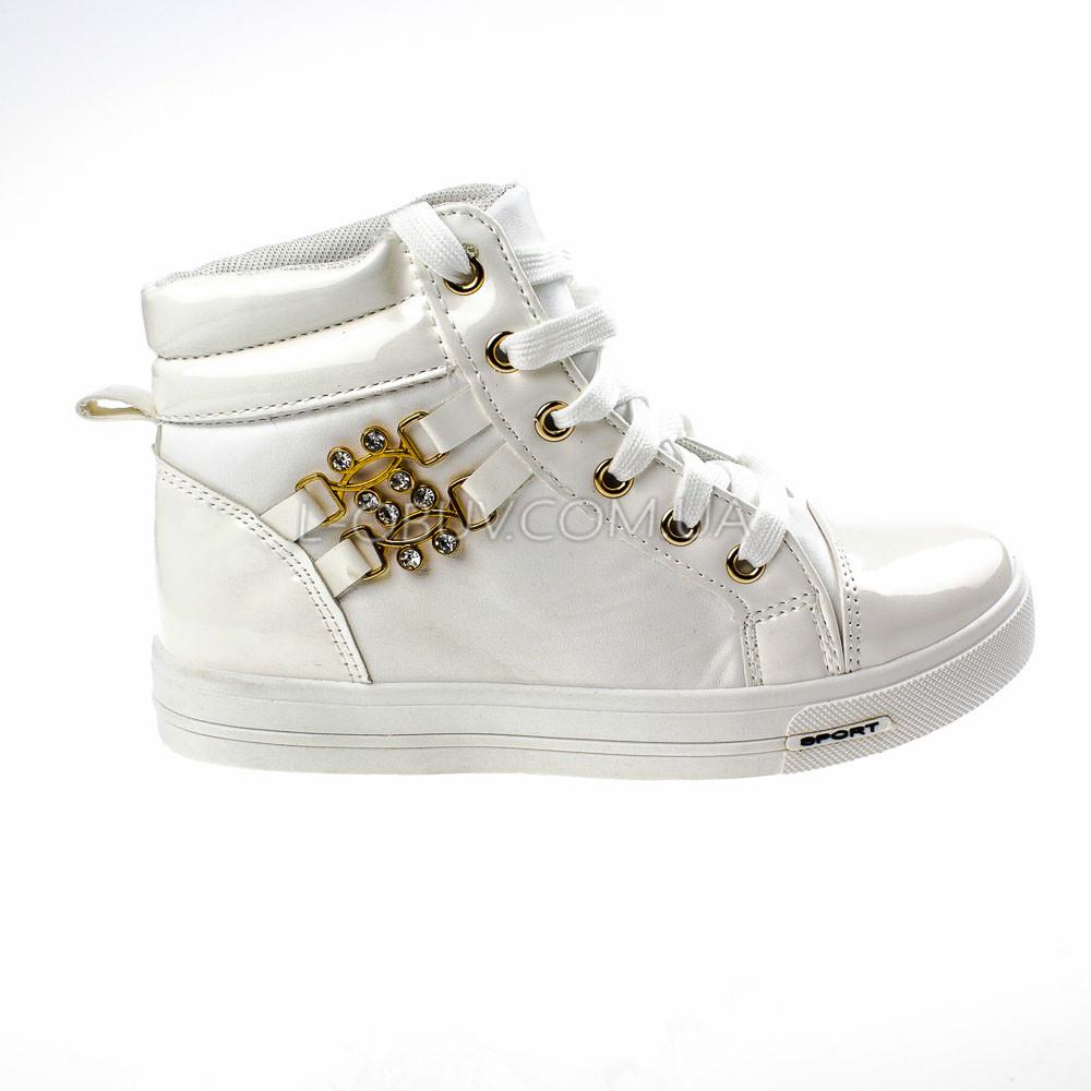 Сникерсы белые на шнурках 2207-1