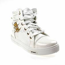 Сникерсы белые на шнурках 2207-1, фото 3