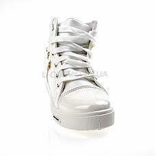 Сникерсы белые на шнурках 2207-1, фото 2