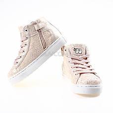 Сникерсы, кеды, кроссовки высокие с пайетками розовые 310-3, фото 2