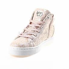 Сникерсы, кеды, кроссовки высокие с пайетками розовые 310-3, фото 3