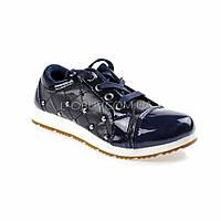 Туфли синие лаковые Шалунишка 105-9