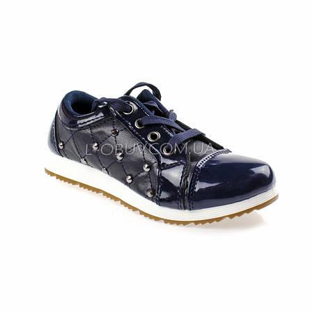 Туфли синие лаковые Шалунишка 105-9, фото 2