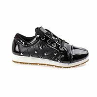 Туфли черные лаковые Шалунишка 105-2
