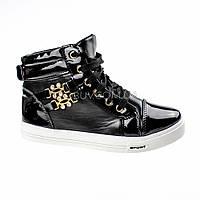 Сникерсы черные на шнурках 2207-2
