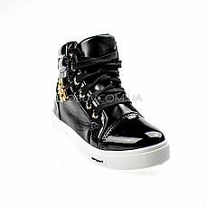 Сникерсы черные на шнурках 2207-2, фото 3