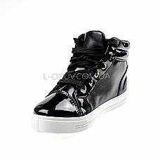 Сникерсы черные на шнурках 2207-2, фото 2
