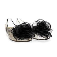 Балетки, босоножки, тапочки резиновые черного цвета 8402, фото 2