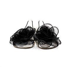 Балетки, босоножки, тапочки резиновые черного цвета 8402, фото 3