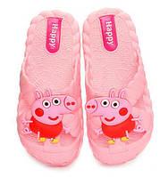 Детские шлепки - вьетнамки - сланцы Свинка Пеппа розовые 8301-3