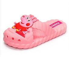 Детские шлепки - вьетнамки - сланцы Свинка Пеппа розовые 8301-3, фото 2