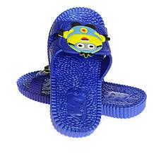 Детские шлепки - вьетнамки - сланцы Миньоны синего цвета 8101, фото 2