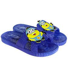Детские шлепки - вьетнамки - сланцы Миньоны синего цвета 8101, фото 3