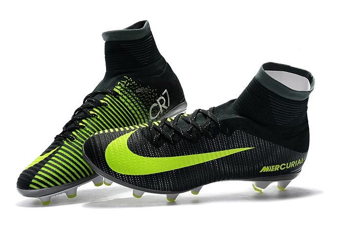 121dc7c6534c Детские футбольные бутсы Nike Mercurial Superfly V CR7 AG  Seaweed Volt Hasta White