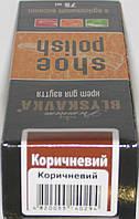 Крем коричневий для гладкої шкіри з губкою Блискавка 75мл, фото 1