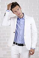 Пиджак белый лён