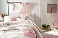 Семейное постельное белье TAC Betsy Pink Ранфорс