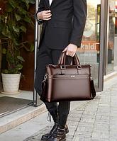 Мужская кожаная сумка. Модель 61323, фото 3
