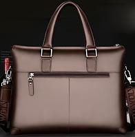 Мужская кожаная сумка. Модель 61323, фото 6
