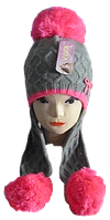 Детская шапка с ушами 5-12 лет